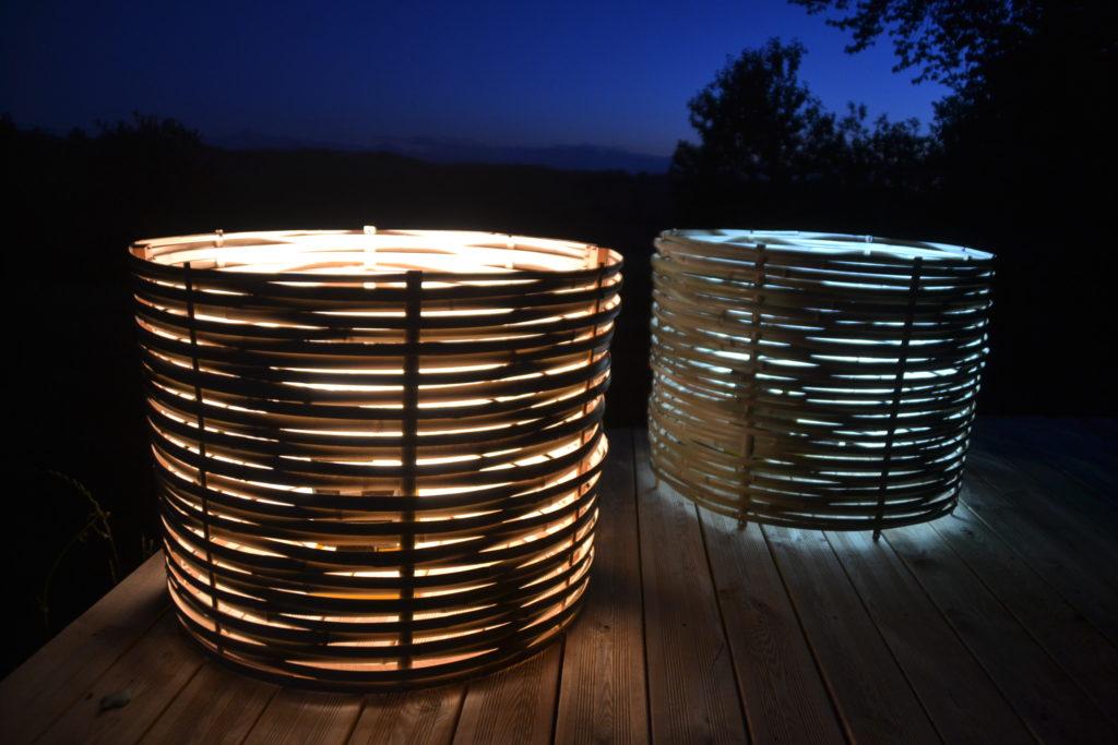 Luminaires nature sur-mesure de Bambou Créations