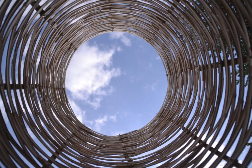 Land Art en bambou - bambou créations - aménagement extérieur