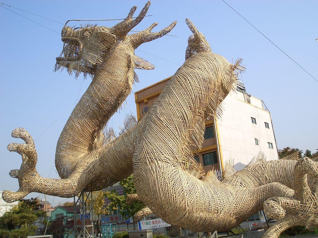 Scénographie - exemple d'animal géant en bambou - bambou créations