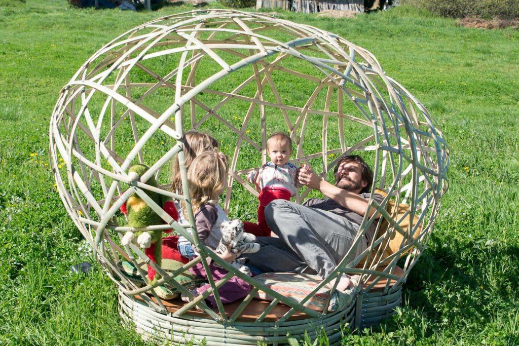 Espace de détente et de jeux en bambou - bambou créations