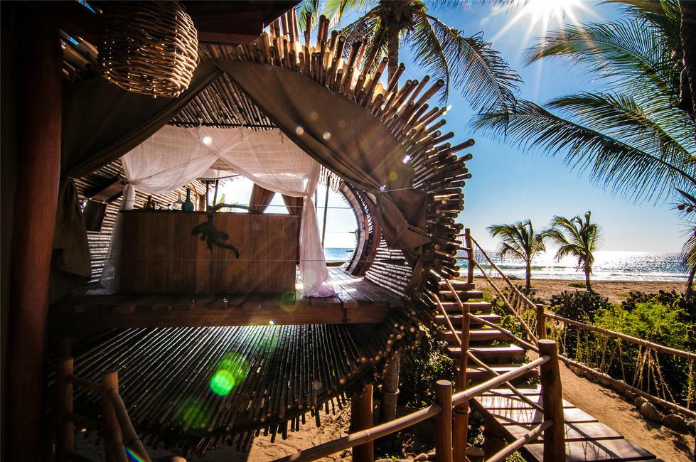 Chambre de gîte en bambou - bambou créations