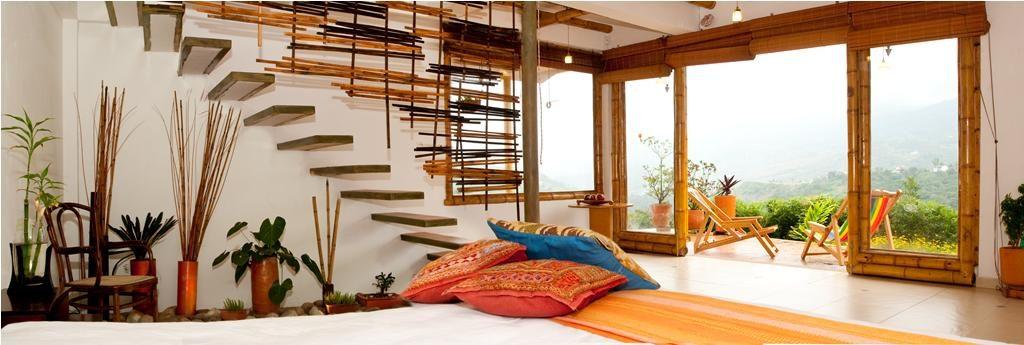 Architecture intérieure moderne avec du bambou - bambou créations