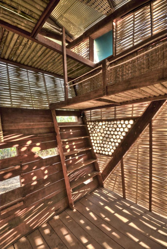Architecture intérieure en lamelles de bambou - bambou créations
