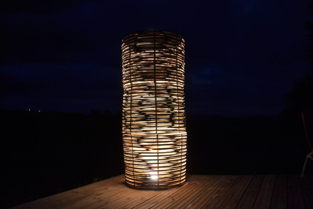 Luminaires modulables en 1 lampe - bambou créations