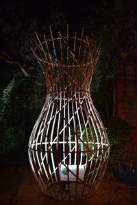 Amphore en bambou lumineuse - Bambou Créations
