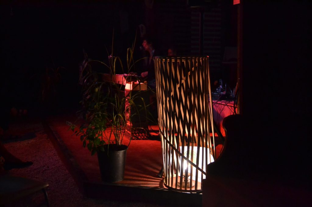 Lampe cousue en bambou - bambou créations