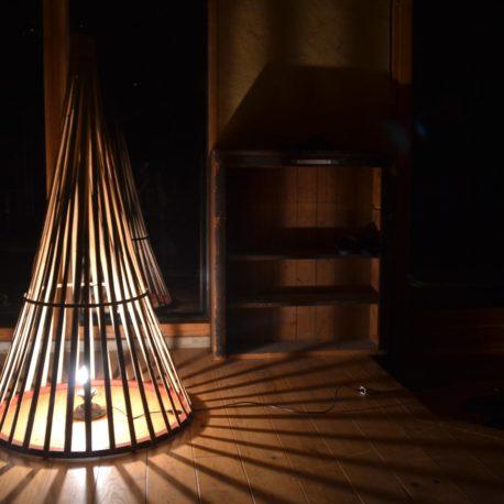 Luminaire tipi – Bambou Créations