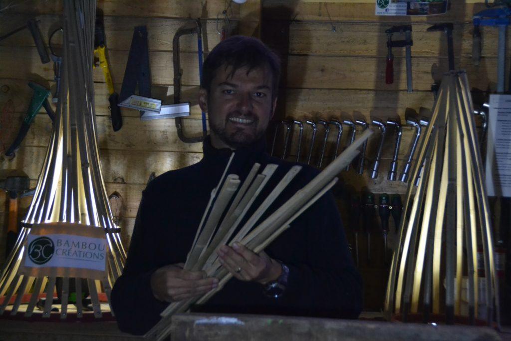 lamelles de bambou douces au toucher - artisan d'art Atelier Bambou Créations