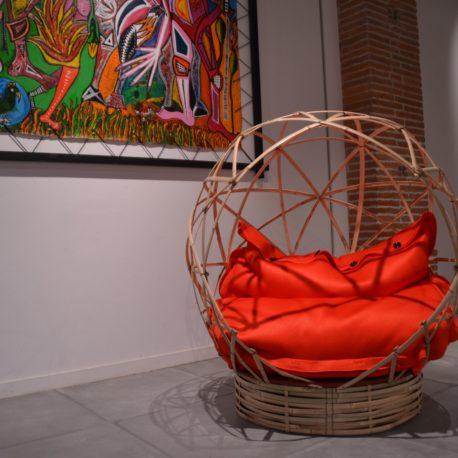 Espace de détente bambou