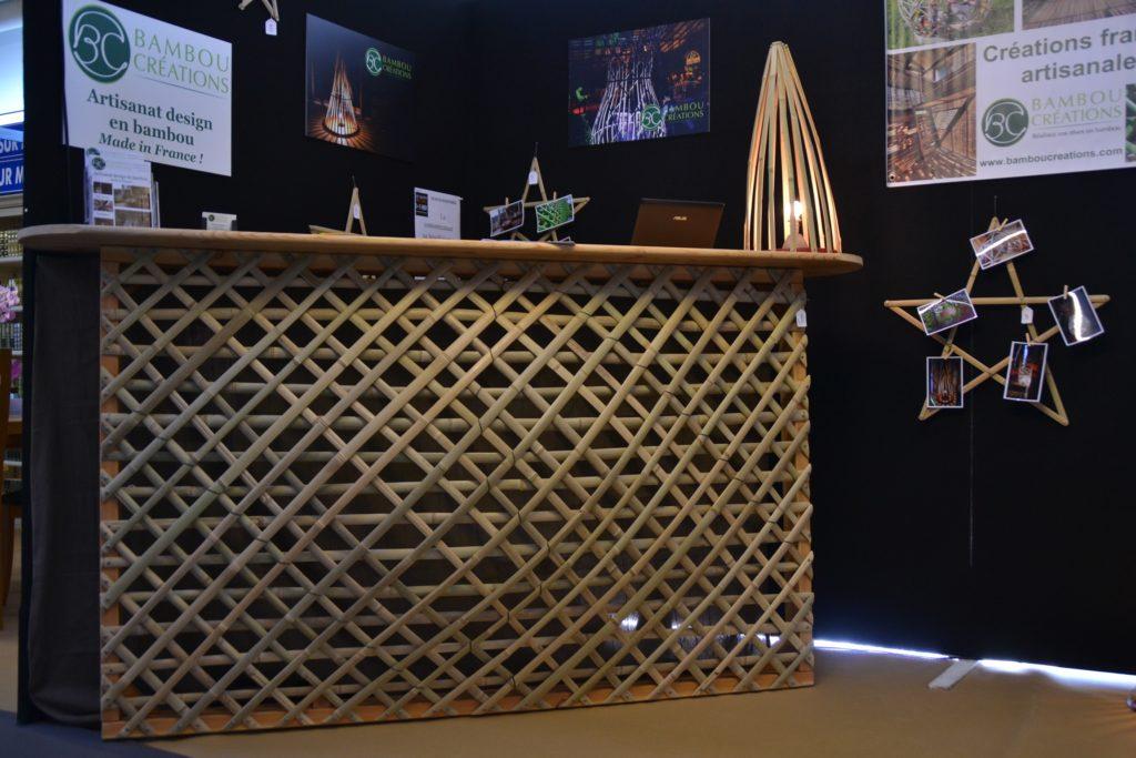 Bar design en lamelles de bambou - Bambou Créations