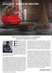 Magazine Maison & Jardin - Présentation de Bambou Créations