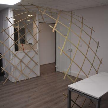 Nouveau prototype : Une arche en treillis de lamelles de bambou !