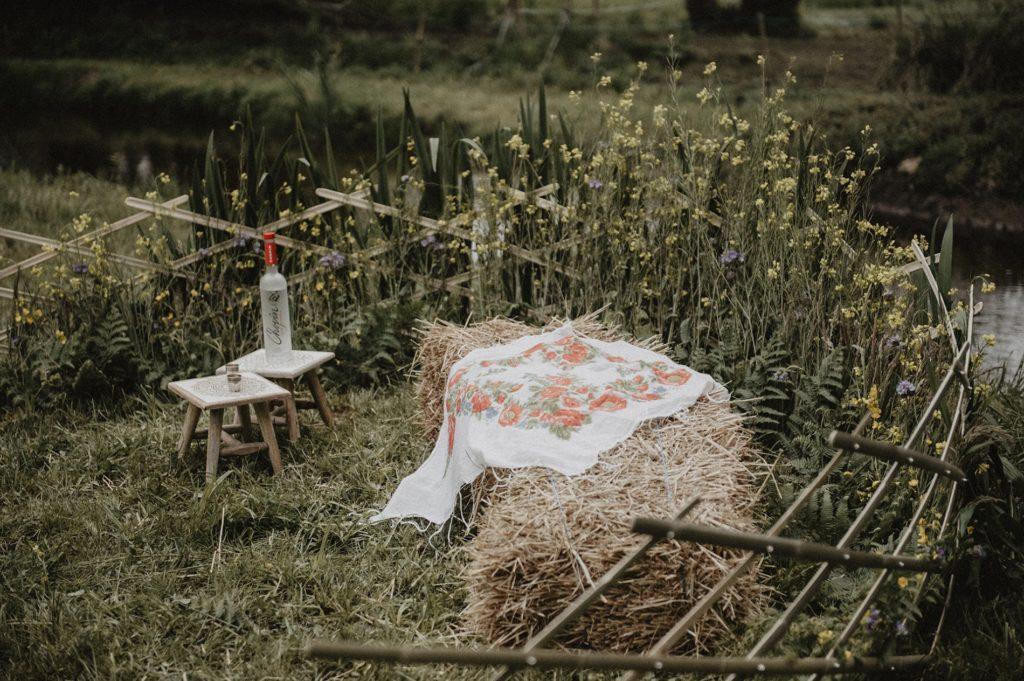 Espace de cérémonie de mariage en lamelles de bambou : Bambou Créations