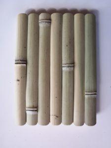 Habillage lamelles de bambou - face extérieure - Bambou Créations