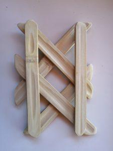 Maillage étoilé en lamelles de bambou - Bambou Créations
