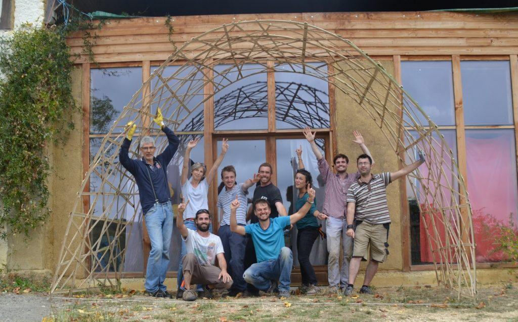 Formation travail artisanal du bambou : Arche réalisée par les stagiaires - Bambou Créations