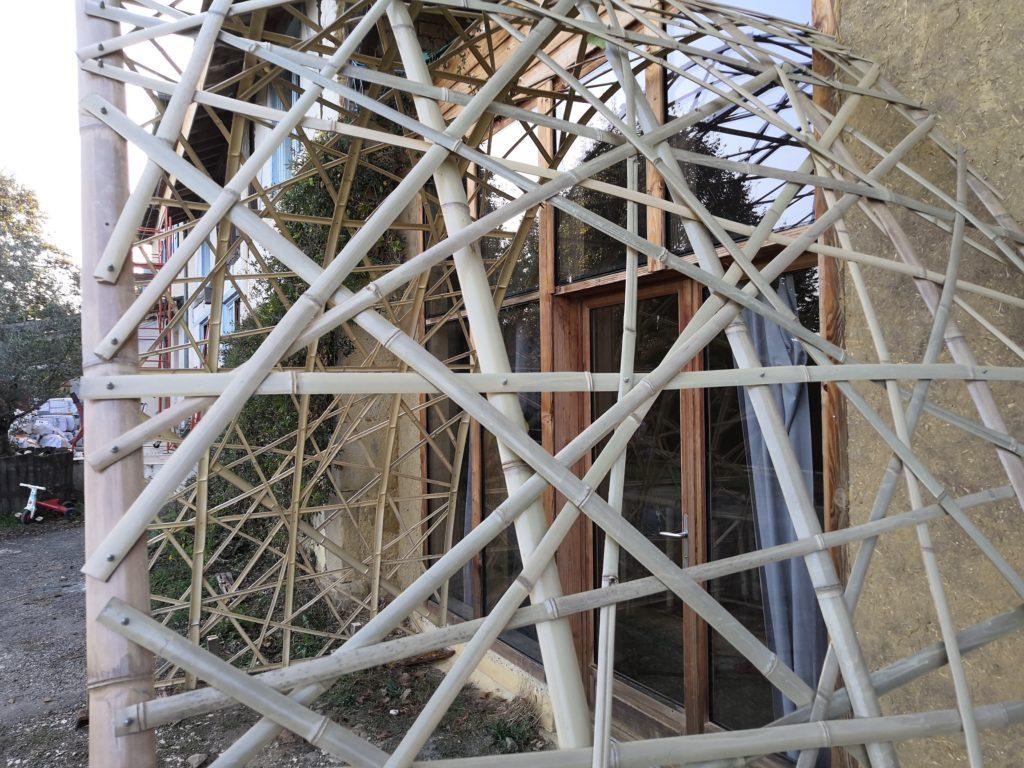 Arche d'accueil d'une salle commune d'un éco-hameau - Bambou Créations