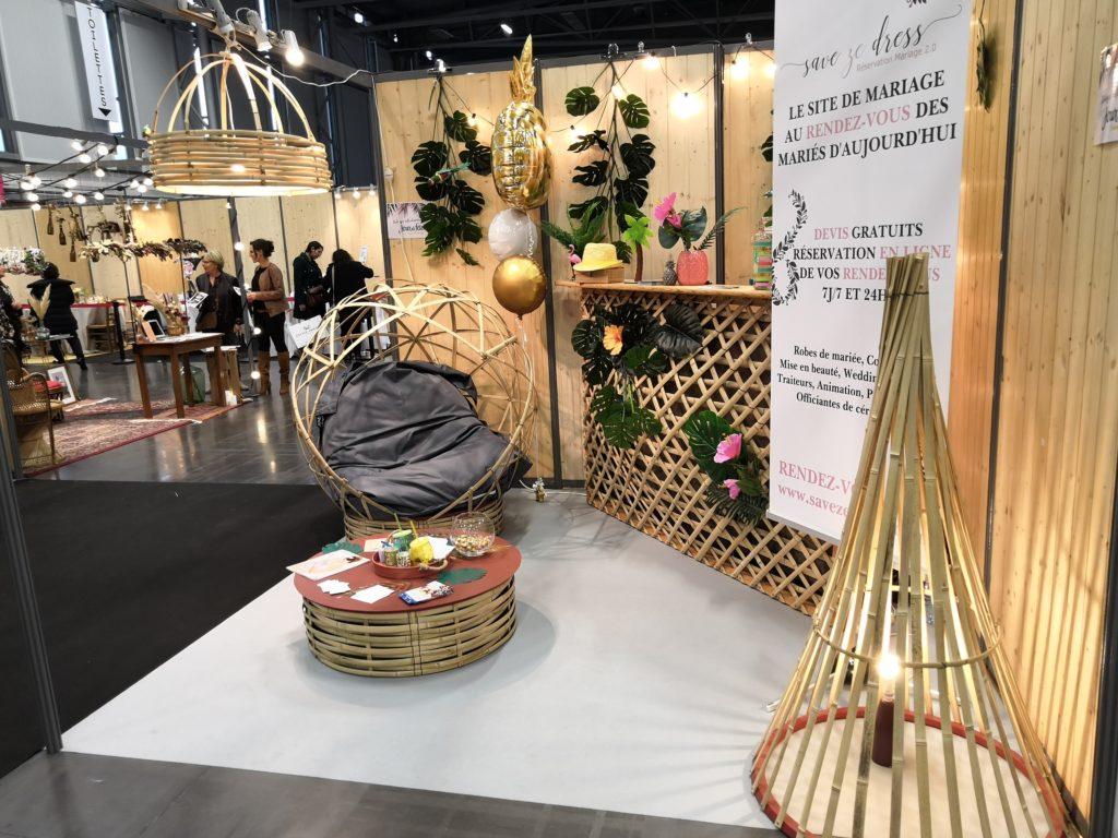 Stand sur le salon du mariage de Nantes - Novembre 2018 - Bambou Créations