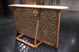 Bar ou comptoir en lamelles de bambou - Bambou Créations