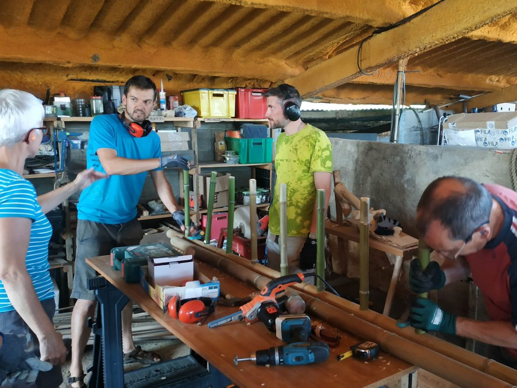 Construction d'une échelle Zéro Carbone, 100% bambou ! Formation bambou créations