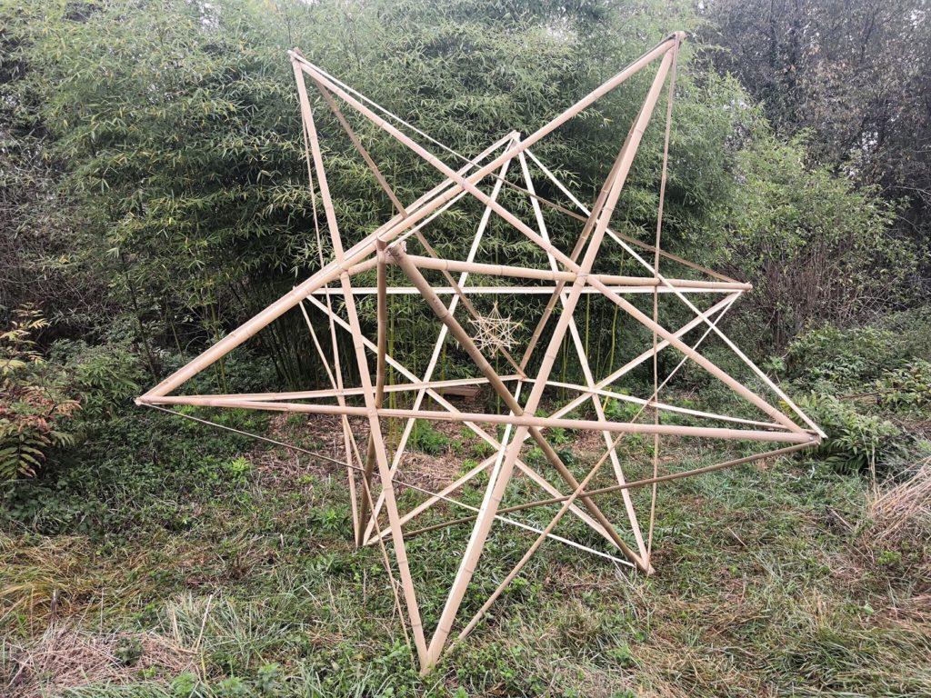 Etoile 3D en lamelles de bambou - Bambou Créations