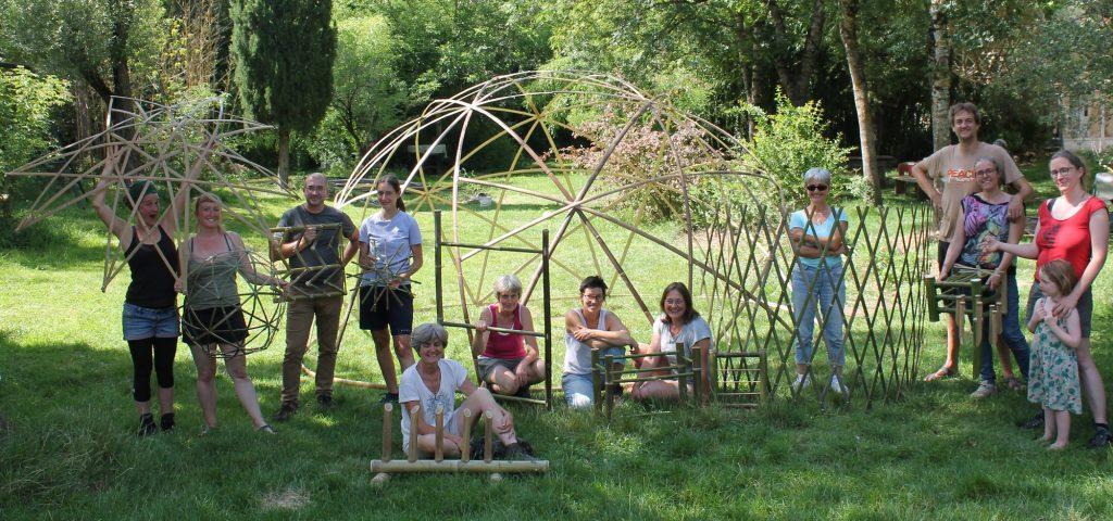 Créations personnelles en bambou des stagiaires - bambou créations