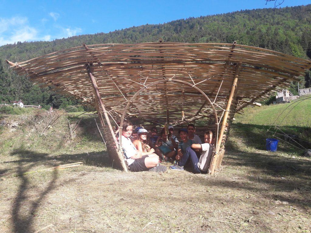 Cabane en bambou : Exemple de tressage traditionnel