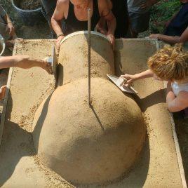 5 jours de Formation «Four à pizzas terre-paille et son abri bambou»